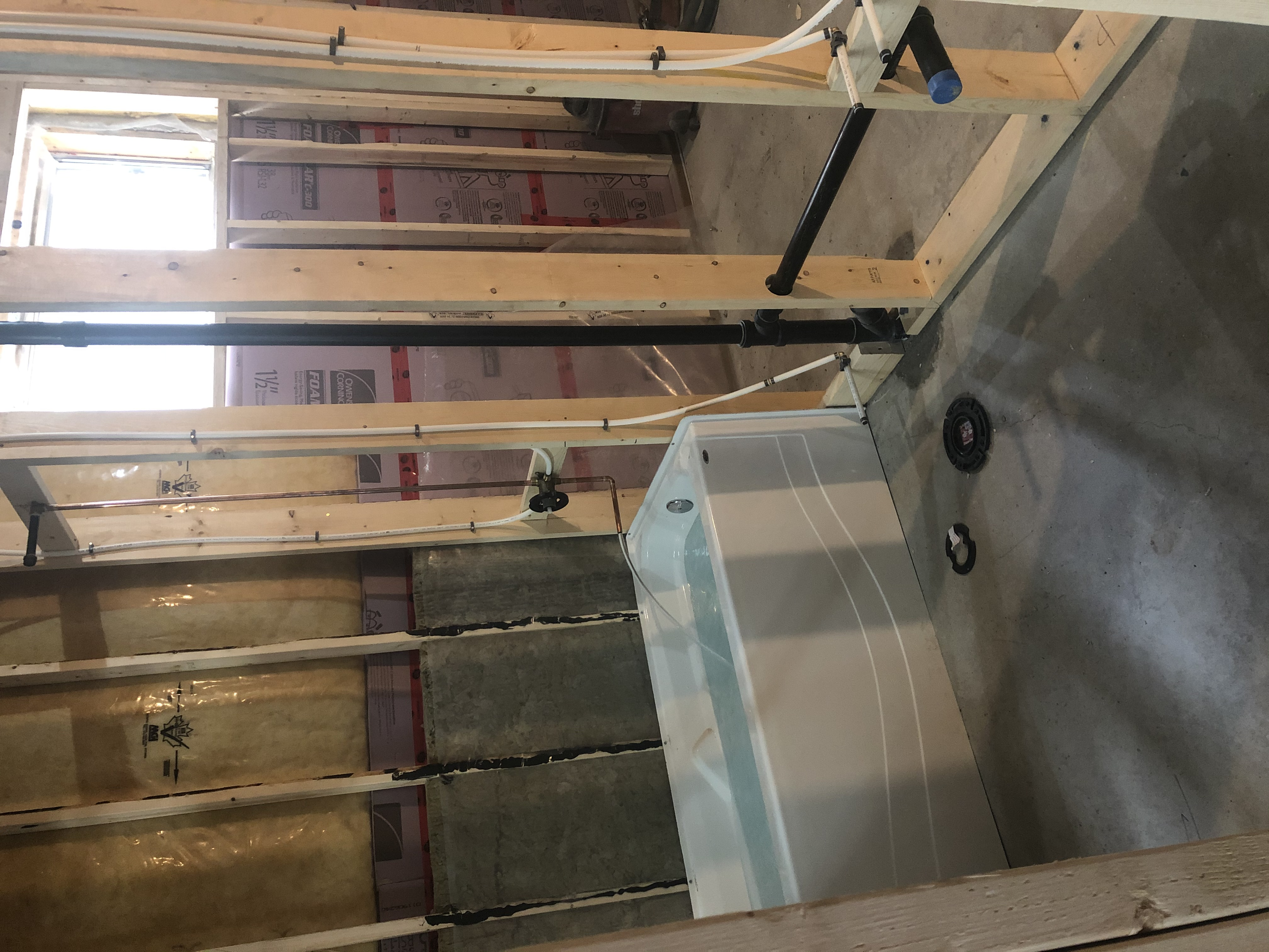 Rough-in for a Basement Bathroom