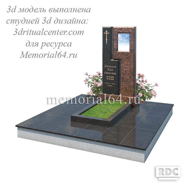 3d макет памятника с портретом