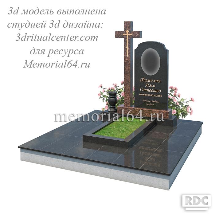 Дизайн памятника с крестом