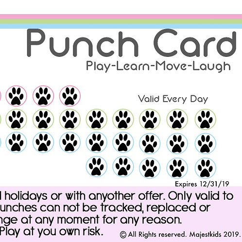 Week 15 Visit Punch Card