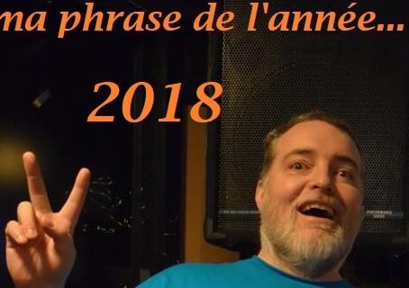 Phrase préférée de 2018