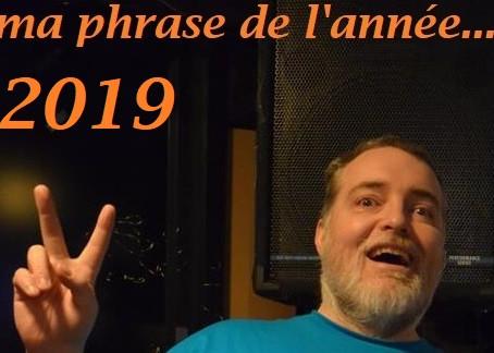 Phrase préférée de 2019