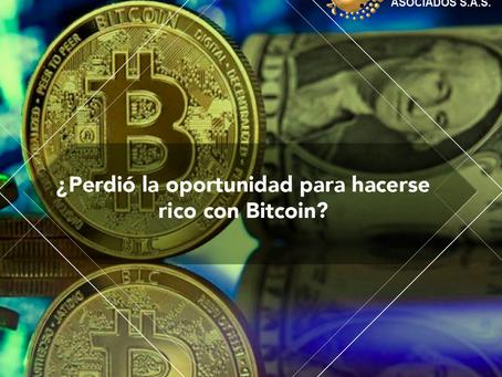 ¿Perdió la oportunidad para hacerse rico con Bitcoin?