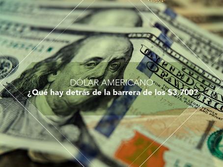 Dólar Americano: ¿Qué hay detrás de la barrera de los $3.700?