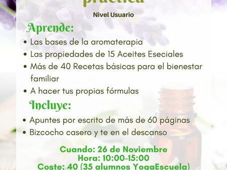Segunda edición Taller Aromaterapia Nivel usuario
