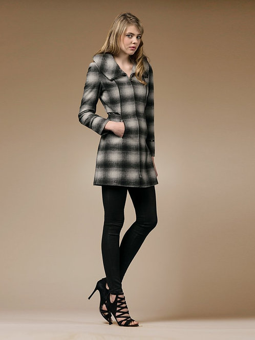 ZAREEN Wool Coat with Zipper Details