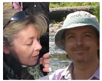 Olivier St-Hilaire and Kimberly Clark, the Grand Prize Winners of 2013. The person on the left side has blond hair and is looking down. The person on the right side is smiling with a hat in front of a river.