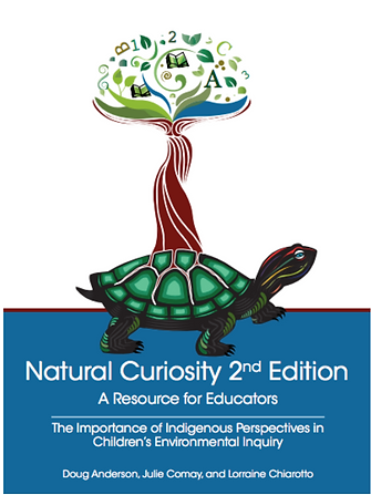 Front cover of the book: Natural Curiosity second edition, with the Natural Curiosity logo. Clickable image to the book.