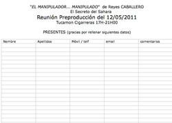 REUNIONES DE PRODUCCION