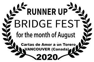 BRIDGE FEST - RUNNER UP - for the  month
