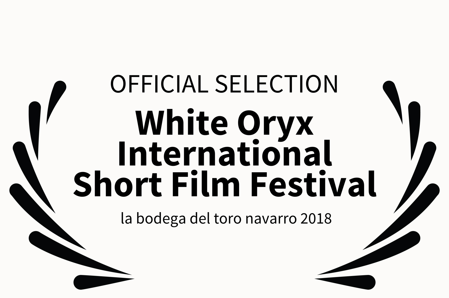 White Oryx International Short Film Festival -  la bodega del toro navarro 2018