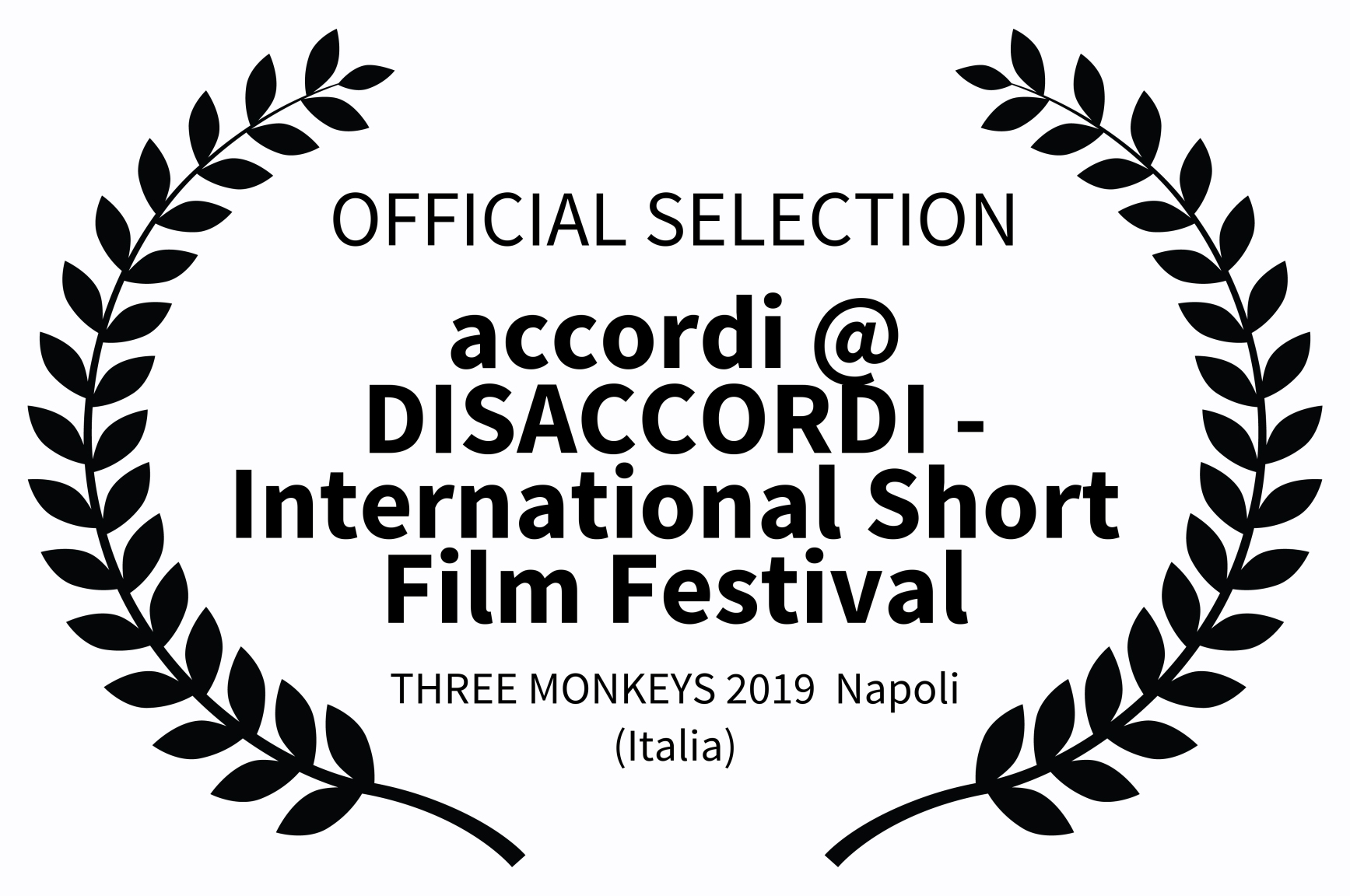 OFFICIAL SELECTION - accordi  DISACCORDI