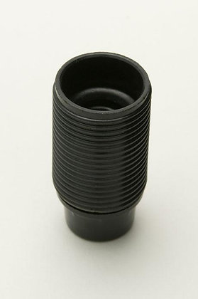 SES Black Plastic Lampholder 10mm Entry