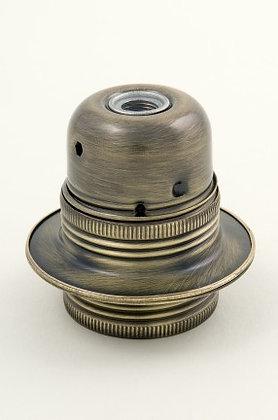 ES Antique Brass Lampholder 10mm Entry