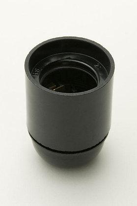 ES Black Plastic Lampholder 10mm Entry
