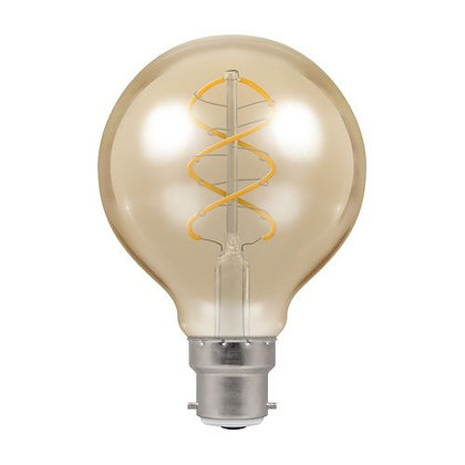 5W LED Spiral Filament Dimmable Antique Bronze