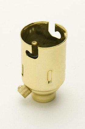 BC Brass Lampholder 10mm Entry