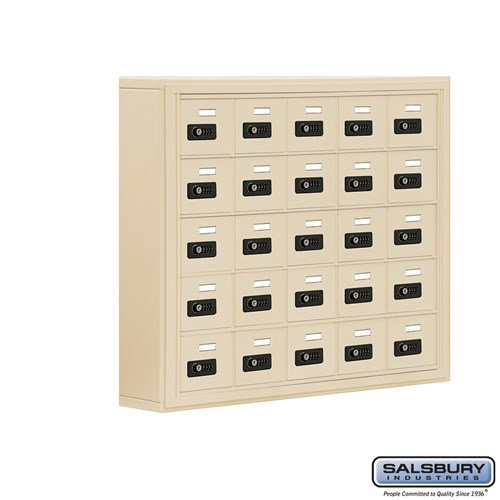 Salsbury Cell Phone Storage Locker - 5 Door High Unit  - 19055-25ASC