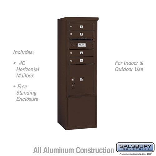 ree-Standing 4C Horizontal Mailbox ADA Height Compliant Unit 3910SAX-04ZFU