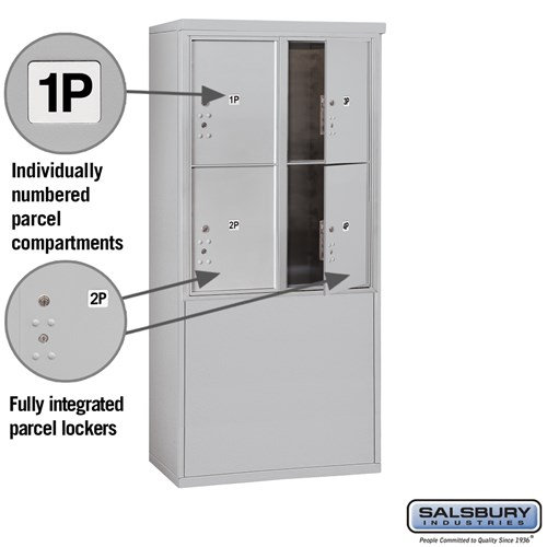 Free-Standing 4C Horizontal Mailbox ADA Height Compliant Unit 3910D-4PAFU