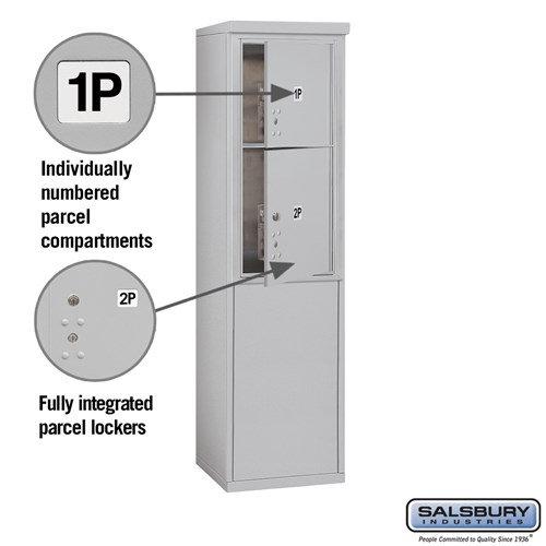 Free-Standing 4C Horizontal Mailbox ADA Height Compliant Unit 3909S-2PAFU