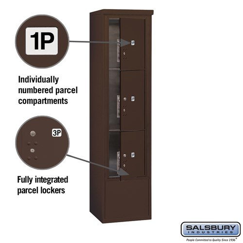 Free-Standing 4C Horizontal Mailbox ADA Height Compliant Unit 3916S-3PZFU