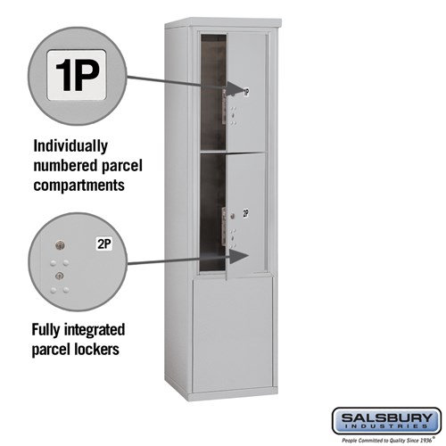 Free-Standing 4C Horizontal Mailbox ADA Height Compliant Unit 3912S-2PAFU