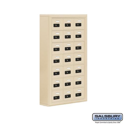 Salsbury Cell Phone Storage Locker - 7 Door High Unit  - 19075-21ASC