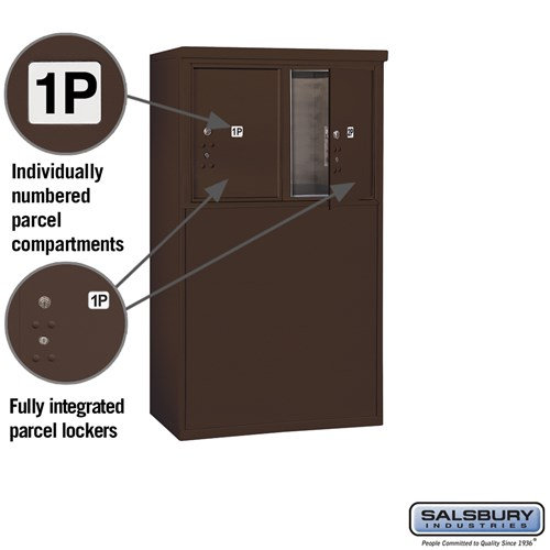 Free-Standing 4C Horizontal Mailbox ADA Height Compliant Unit 3905D-2PZFU