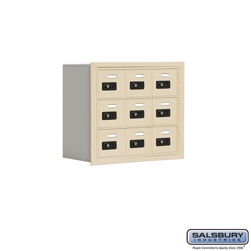 Salsbury Cell Phone Storage Locker - 3 Door High Unit  - 19038-09ARC