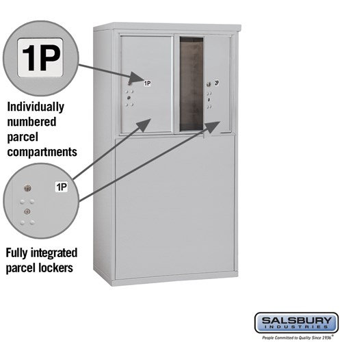 Free-Standing 4C Horizontal Mailbox ADA Height Compliant Unit 3906D-2PAFU