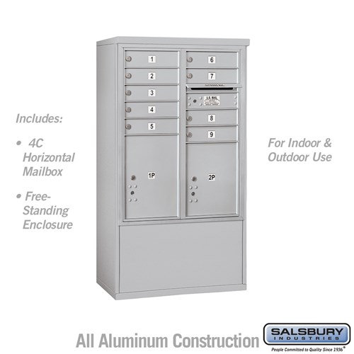 ree-Standing 4C Horizontal Mailbox ADA Height Compliant Unit 3910DAX-09AFU
