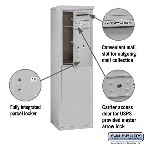 Free-Standing 4C Horizontal Mailbox ADA Height Compliant Unit 3907S-1PAFU