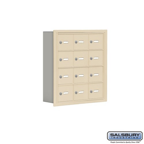 Salsbury Cell Phone Storage Locker - 4 Door High Unit  - 19045-12ARK
