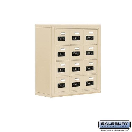 Salsbury Cell Phone Storage Locker - 4 Door High Unit  - 19048-12ASC