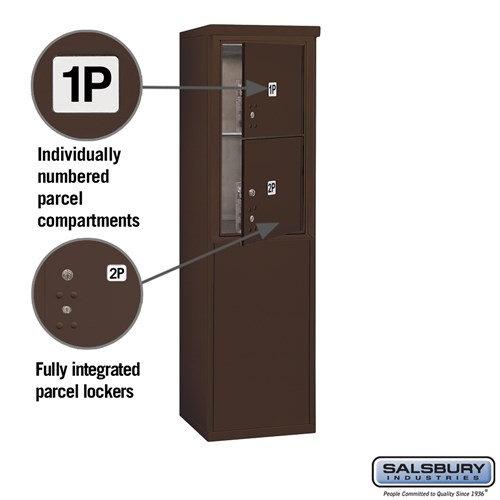 Free-Standing 4C Horizontal Mailbox ADA Height Compliant Unit 3908S-2PZFU