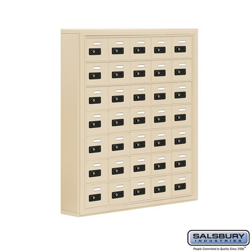 Salsbury Cell Phone Storage Locker - 7 Door High Unit  - 19075-35ASC