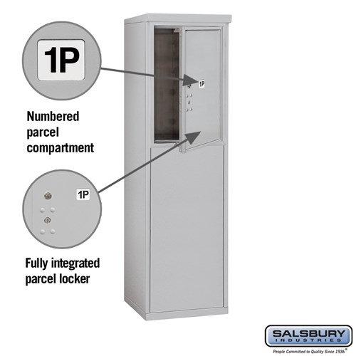 Free-Standing 4C Horizontal Mailbox ADA Height Compliant Unit 3906S-1PAFU