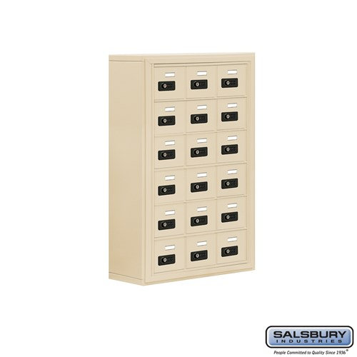 Salsbury Cell Phone Storage Locker - 6 Door High Unit  - 19068-18ASC