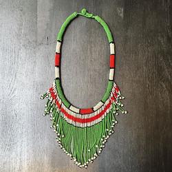 Collier style Massaï en perles