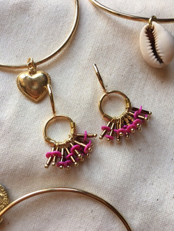 Boucles Froufrou rose