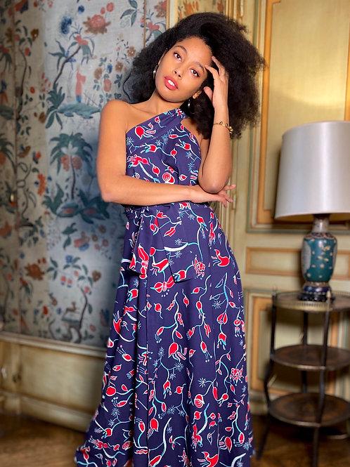 Jupe robe portefeuille floral