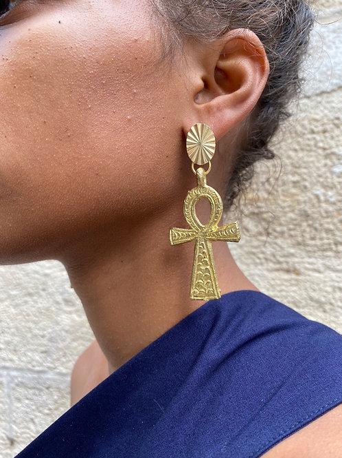 Boucles croix d'Ânkh