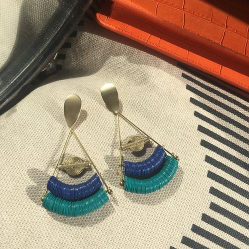 Boucles Pyra Bleu/vert
