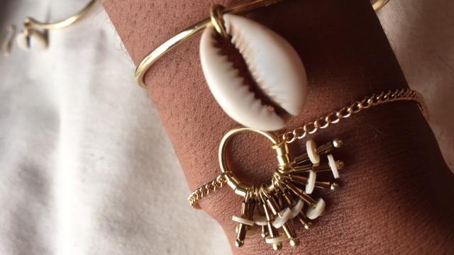 Bracelet Froufrou et jonc Cauri