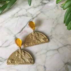 Boucles d'oreilles LUNA en bronze