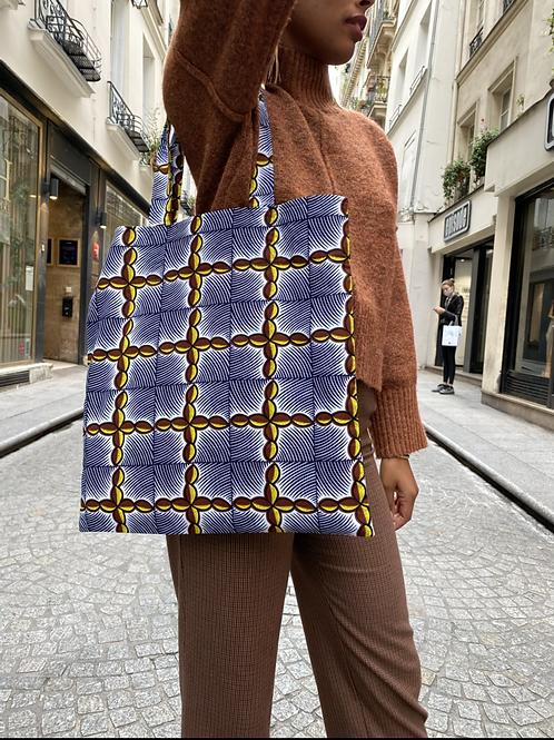 Tote Bag en Wax Bleu Nuit