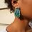 Thumbnail: Boucles d'oreilles BAHIA vertes