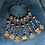 Thumbnail: Collier os, bronze et perles anciennes