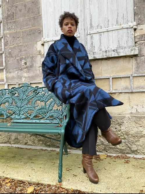Manteau Oversized Adèle géométrique